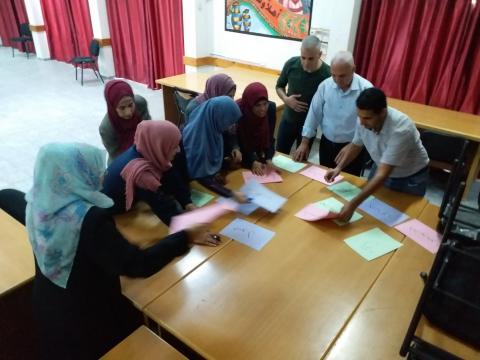 تدريب الأخصائيين الاجتماعيين في وكالة الغوث في غزة